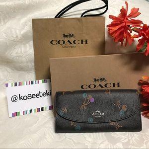 COACH Cherry Signature Slim Envelope Wallet